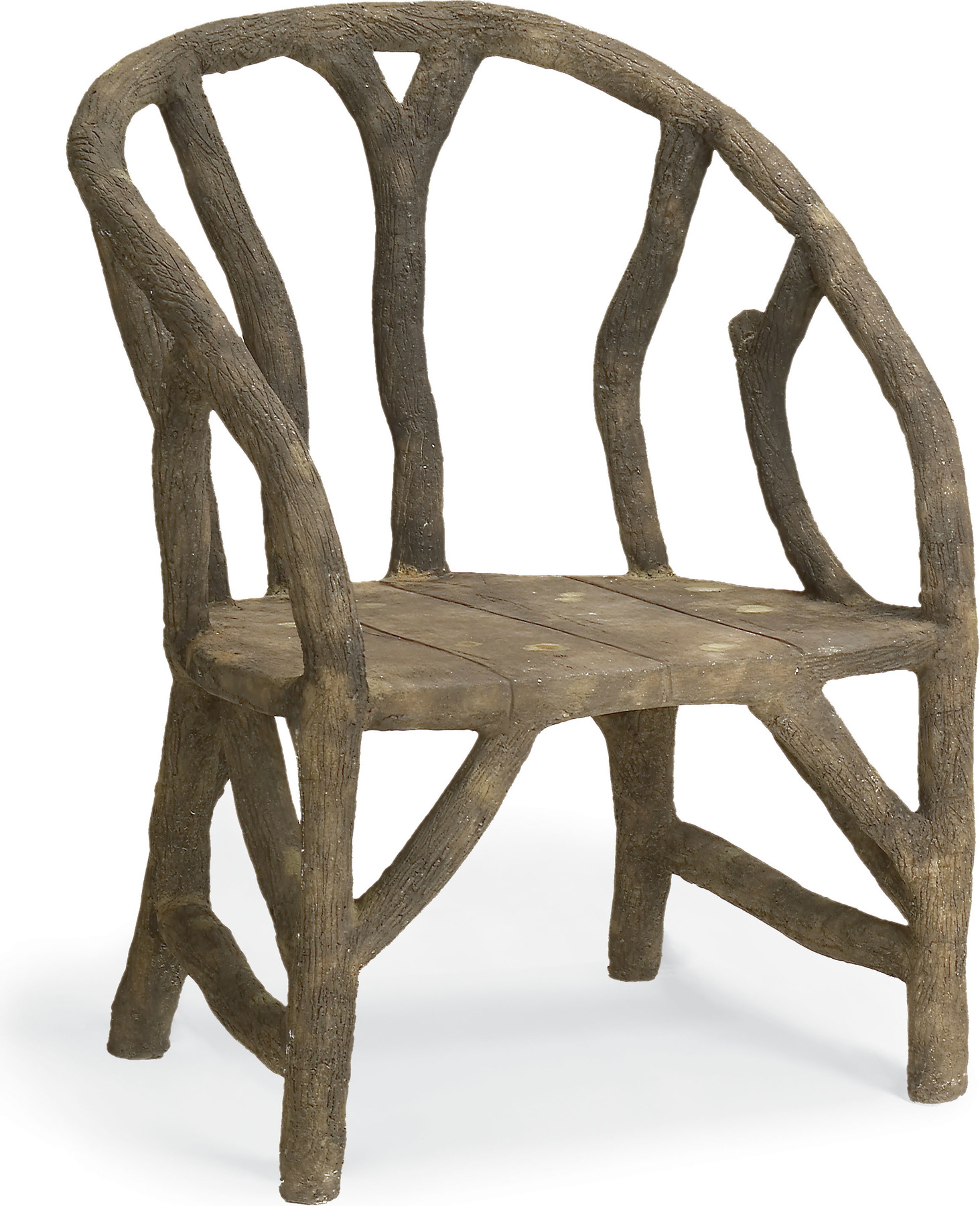 Currey And Company Faux Bois: Arbor Chair