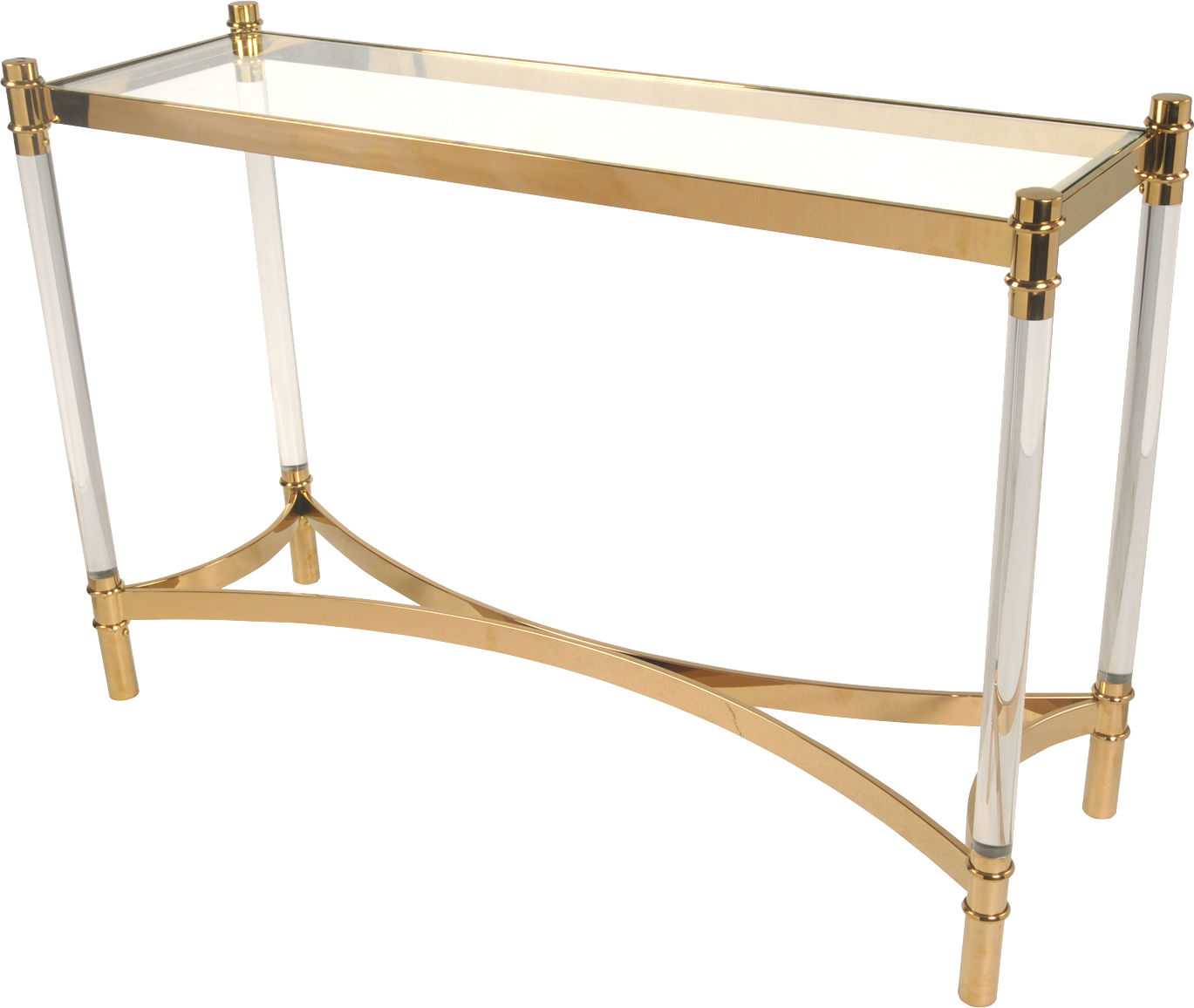 Fresca Acrylic Console Table Glass Top