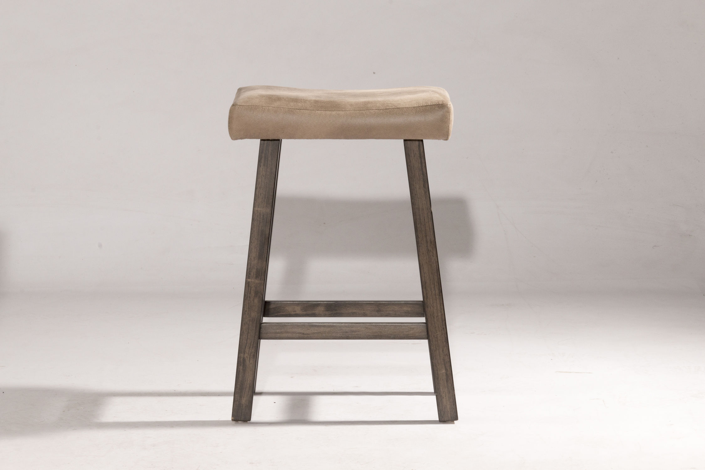 Saddle Non Swivel Backless Counter Stool Rustic Gray