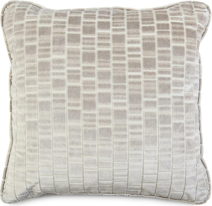 Decorative Throw Pillow With A Cream And Grey Geometric Pattern Layla Grayce